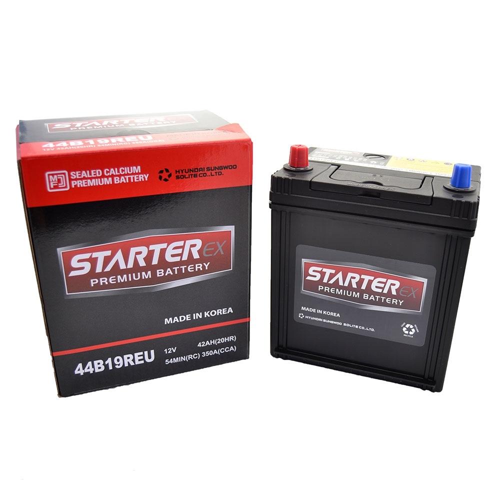 STARTER EX Акумулятор 42Ah Tk (+ /-) 350А JAPAN 44B19REU