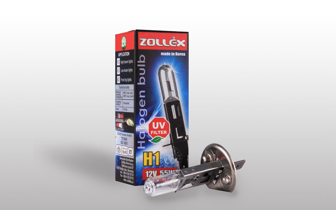 Zollex Лампа авто галоген. H1 12V 55W 9324