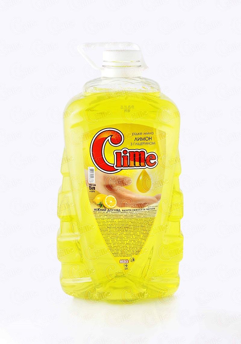 Clime Рідке мило для рук з гліц. 5л Лимон HS5LE