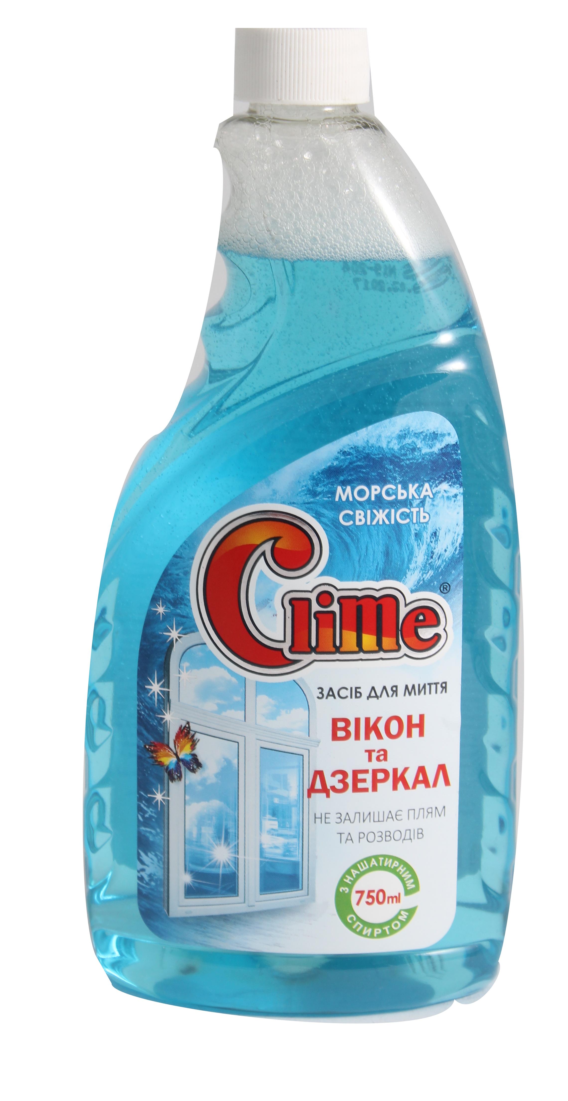 Clime Засіб для скла з нашат.спирт 0,75л LSF75z (запаска)
