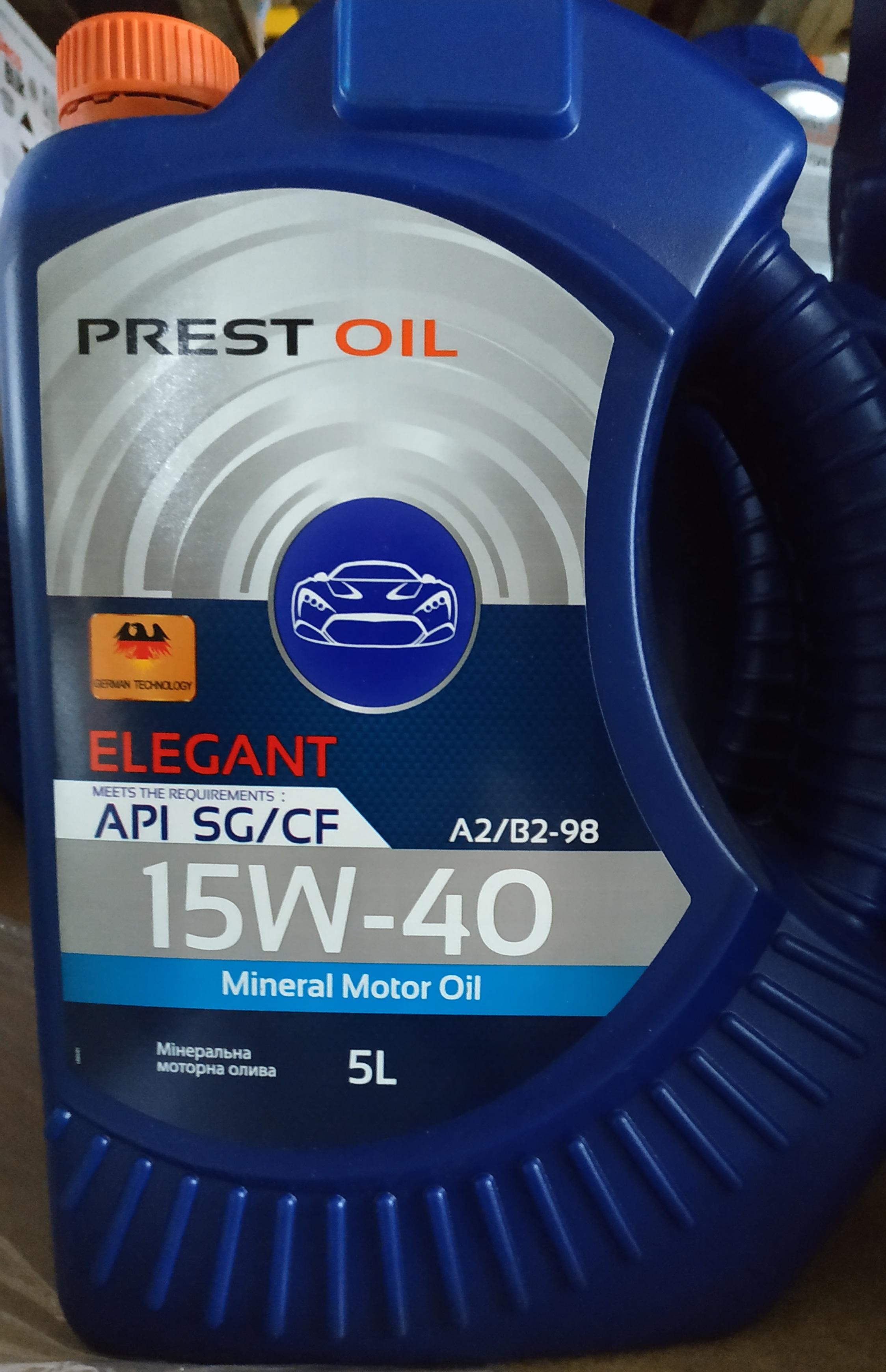 PREST OIL олива 15W40 SG/CF 5л