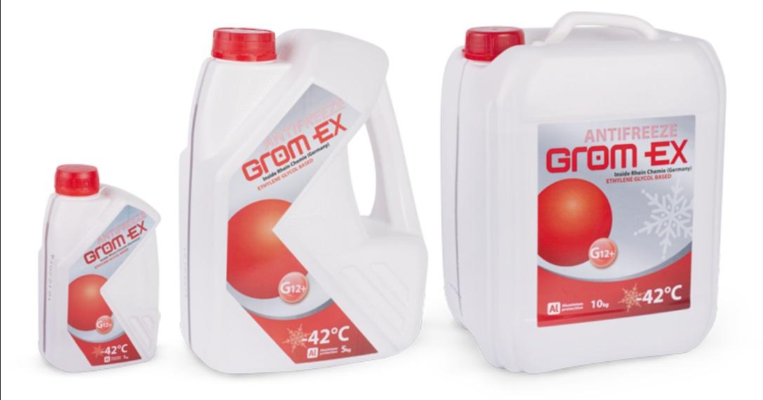 GROM-EX Антифриз -42 5кг. G12+(Червоний)