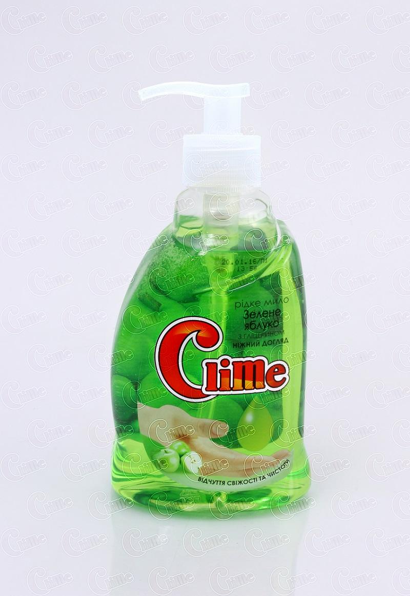 Clime Рідке мило для рук 0,4л Зелене яблуко HSGA04(дозатор)
