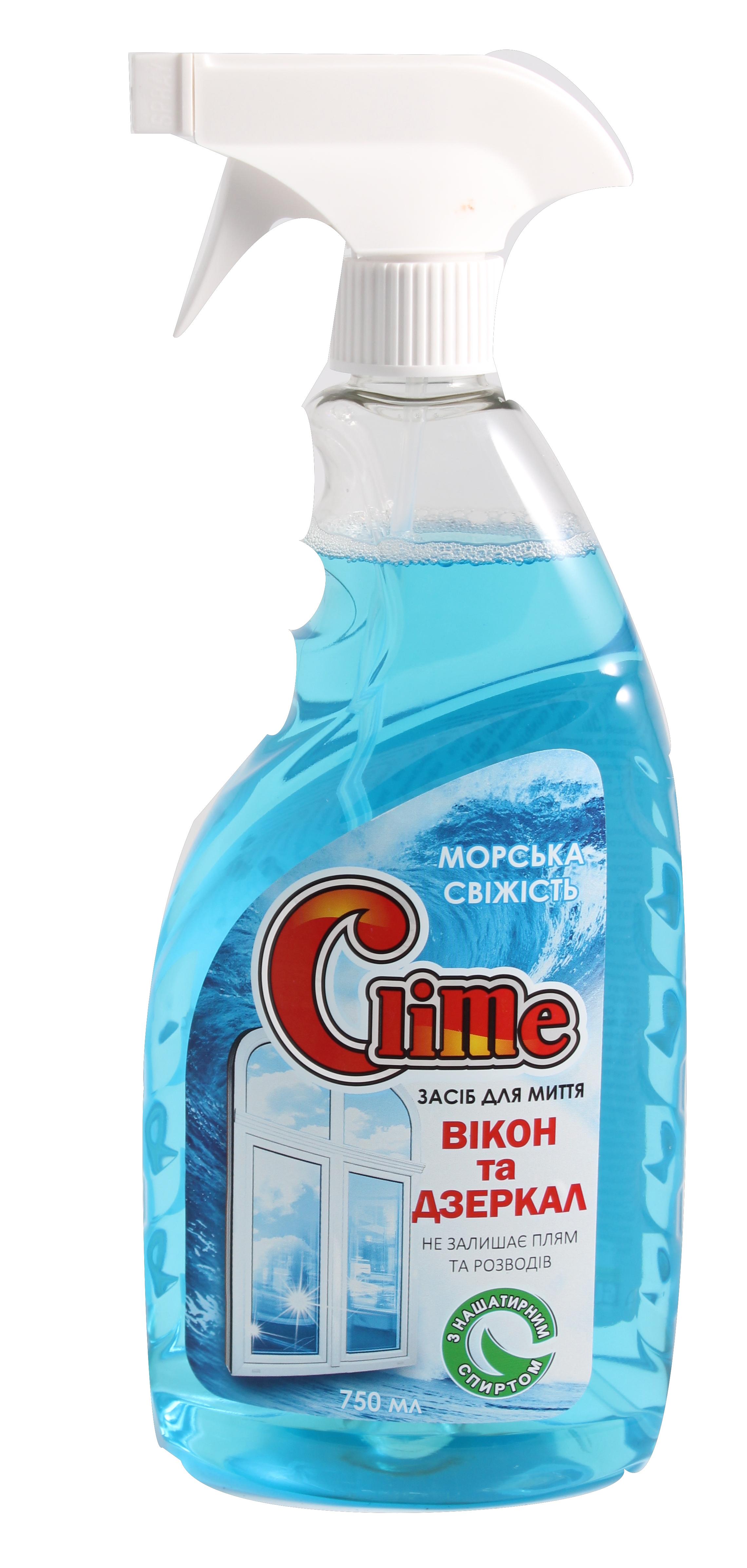 Clime Засіб для скла з нашат.спирт 0,75л GLSF75 (тригер)