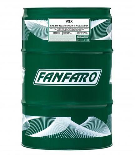 Fanfaro  Масло мот. VSX 5W40  60л  SN/CF