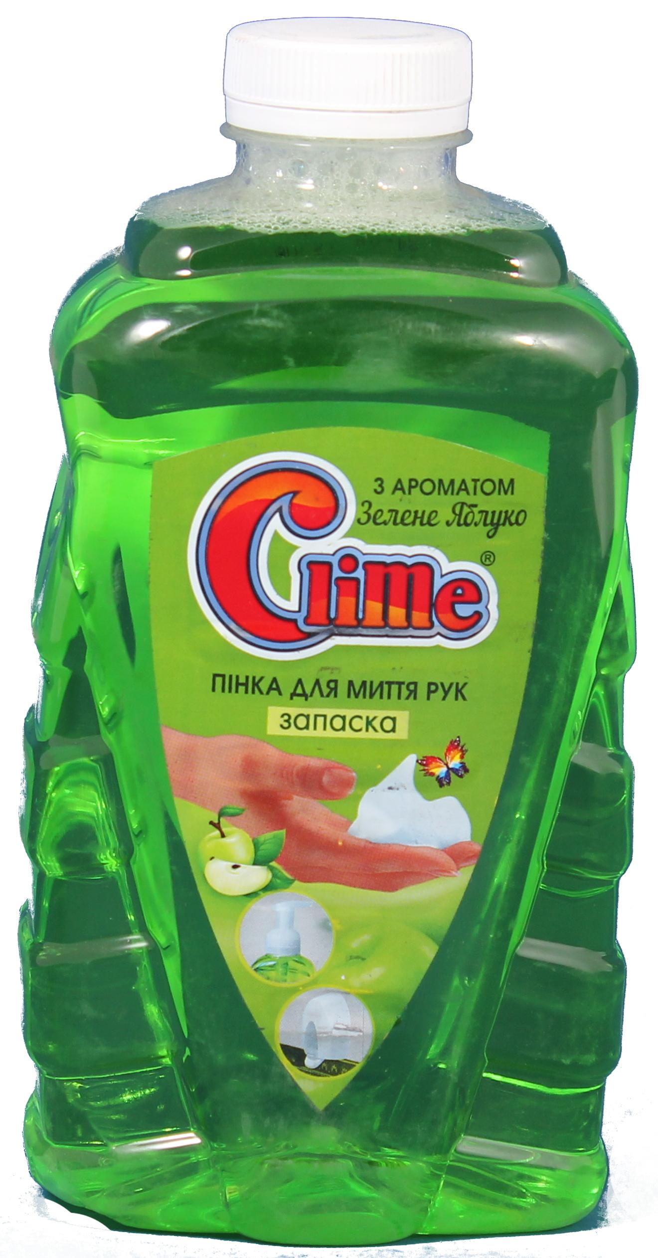 Clime Пінка для миття рук 1л Зел.яблуко PGA10 (запаска)