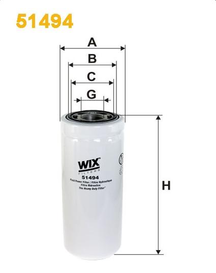 WIX 51494 Фільтр гідравлічний