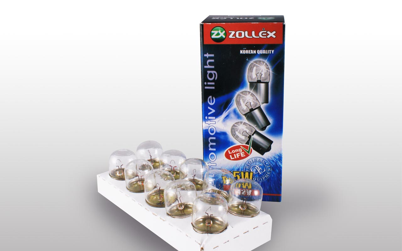 Zollex Лампа автомоб. R5W 12V 9524 (10шт)