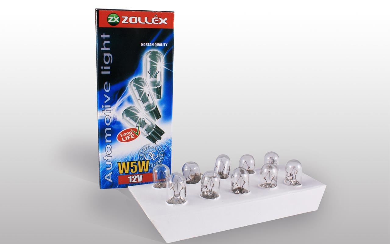 Zollex Лампа автомоб. W5W 12V 9024 (10шт)