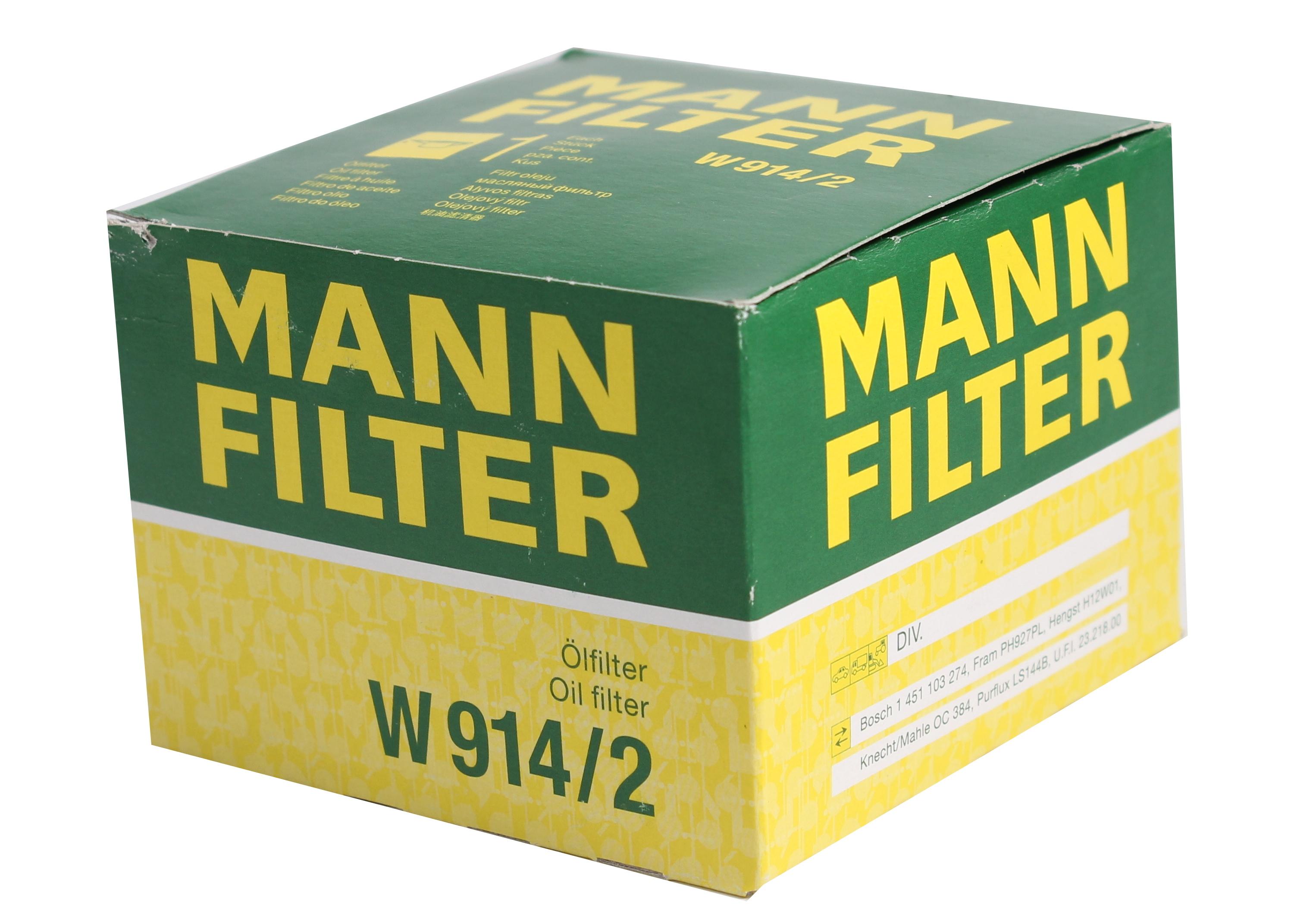 Фільтр масляний MANN W 914/2 ВАЗ 008