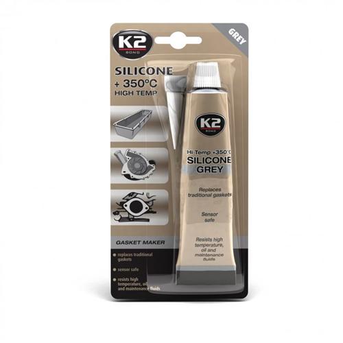K2 Grey sil bli-Сірий силікон герметик 85гр.