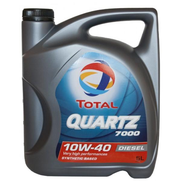 TOTAL Олива мот. QUARTZ D 7000 10W40 5л API SL/CF