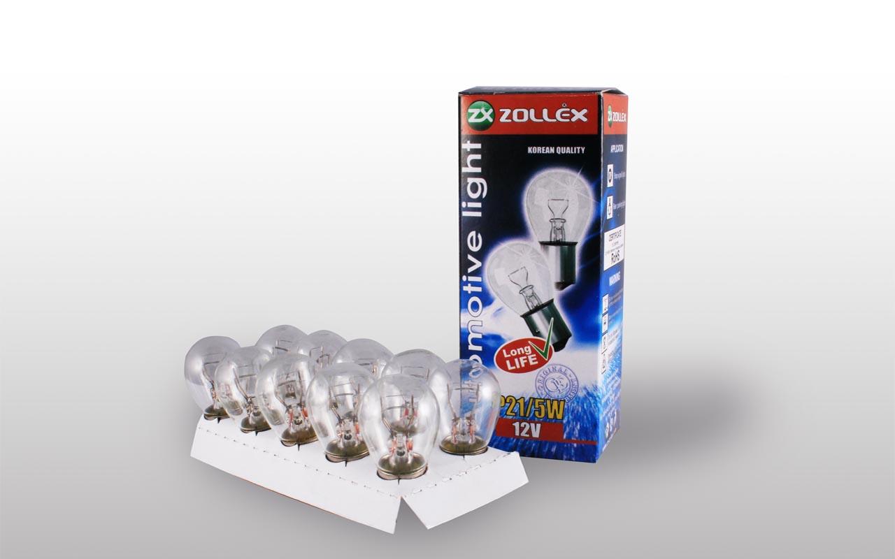 Zollex Лампа автомоб. P21/5W 12V 8724 (10шт)
