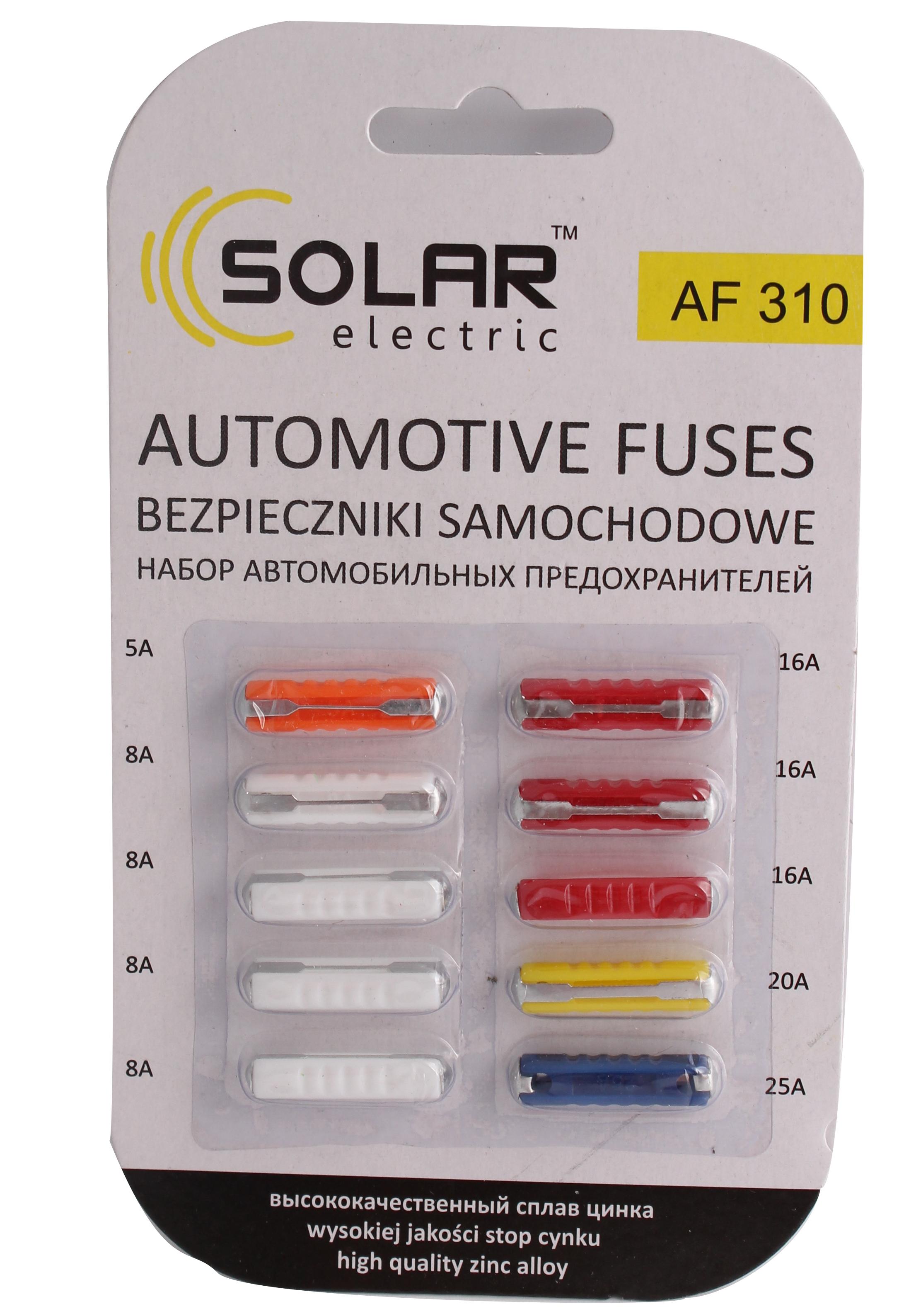 Предохранители (к-т 10шт.) ВАЗ-2101-06 Solar AF310