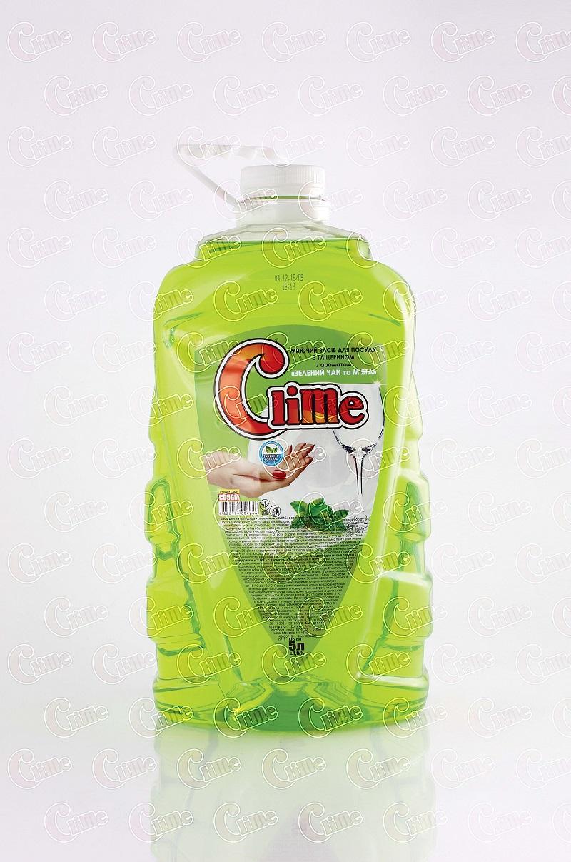 Clime Засіб миючий для посуду 5л Зел.чай та м`ята CD5GM