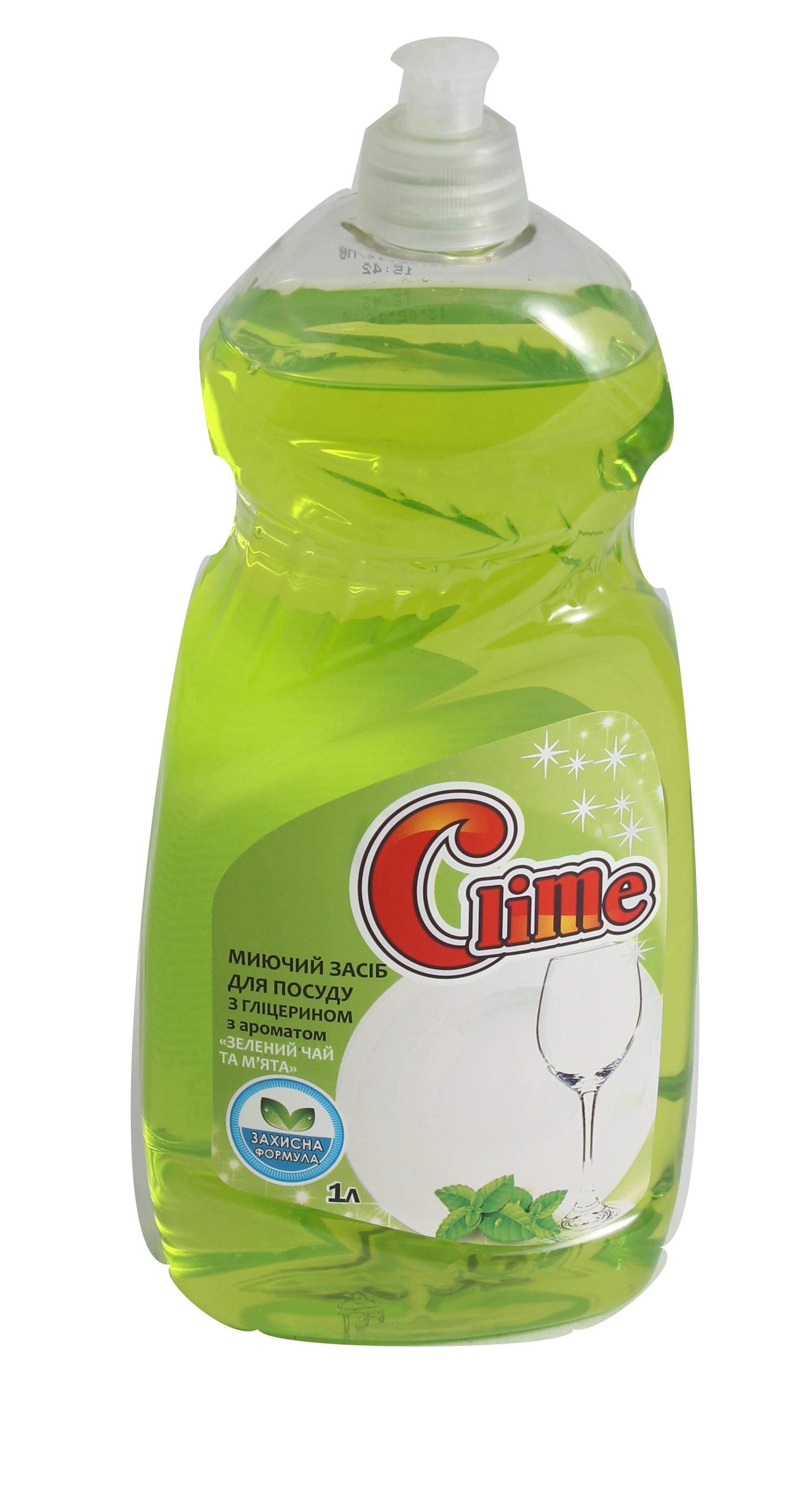 Clime Засіб миюч. для посуду 1л Зел.чай і м'ята CD1GMпуш-пул