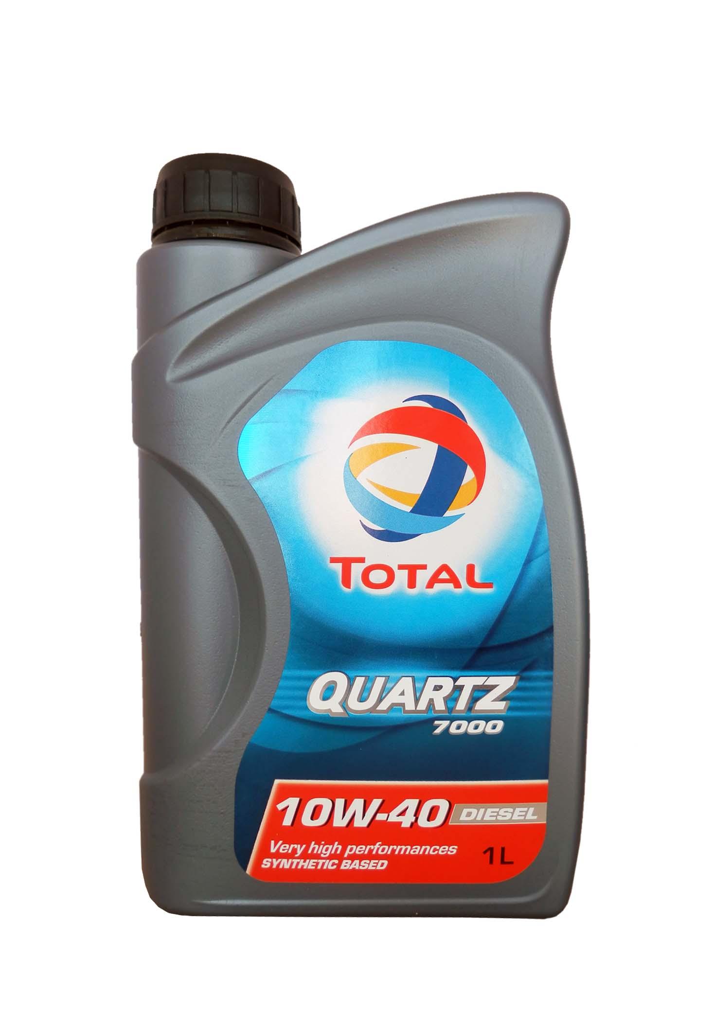 TOTAL Олива мот. QUARTZ D 7000 10W40 1л API SL/CF