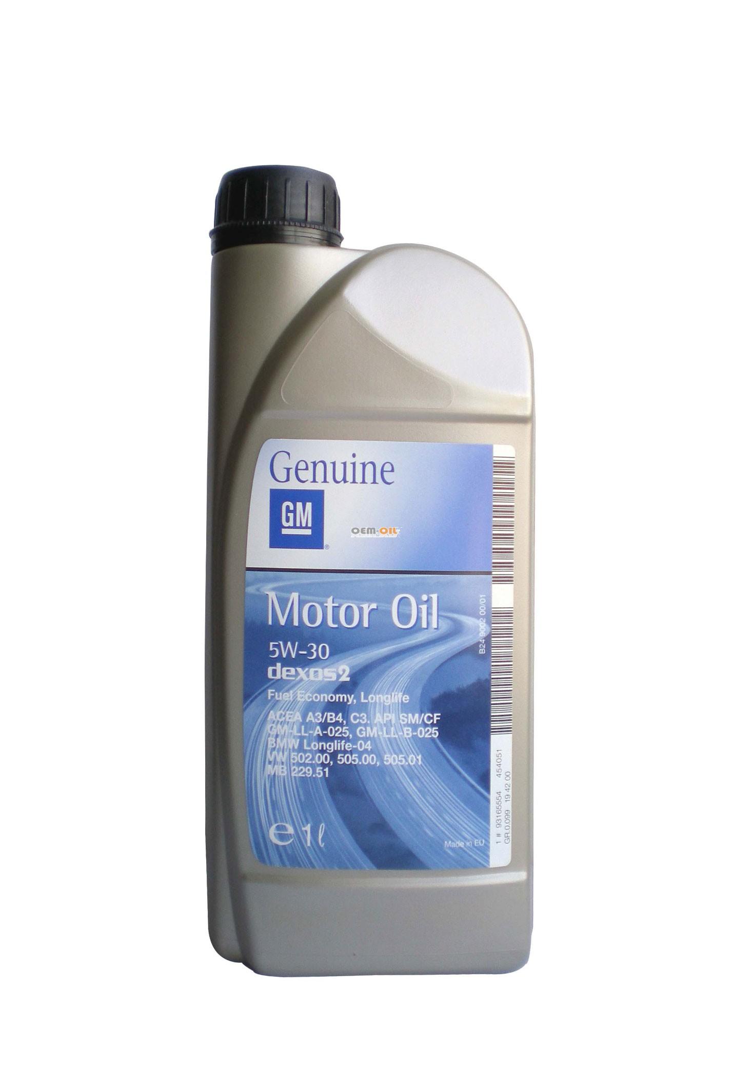 GM олива мот. DEXOS 2 5W30 1л