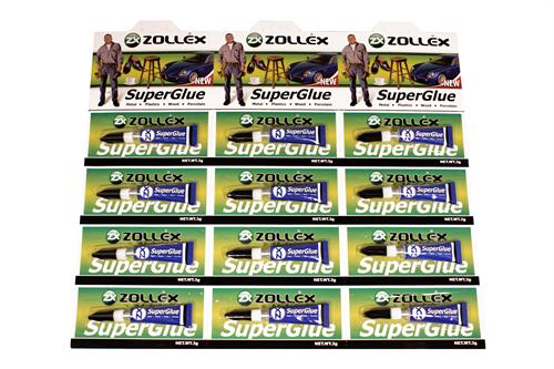 Zollex Супер клей SuperGlue (планшет 12шт по 3гр.)