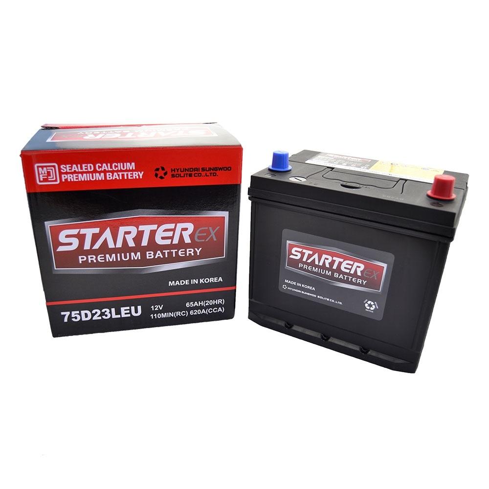 STARTER EX Акумулятор 65Ah (- /+) 620А JAPAN 75D23LEU