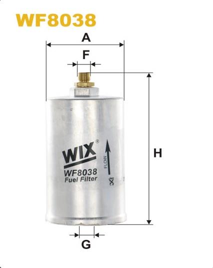 WIX WF8038 Фільтр паливний Filtron PP 834