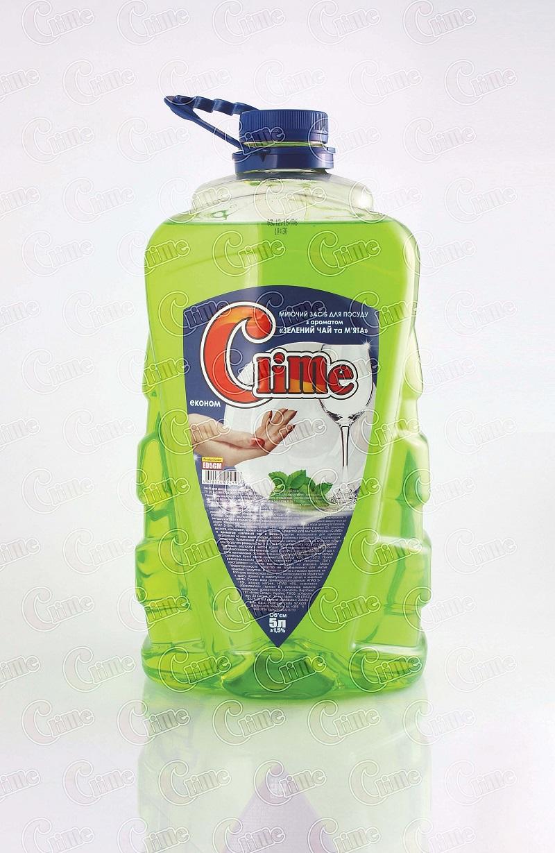 Clime Засіб економ миюч. для посуду 5л Зел.чай і м`ята ED5GM